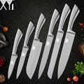 <font><b>XYj</b></font> набор кухонных ножей из нержавеющей стали, лезвие из высокоуглеродистой стали, Нескользящие ручные ножи мясо рыба фрукты суши кухонные п...