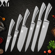 XYj Stainless Steel Kitchen Knife Set High Carbon Steel Blade Non-slip Handle Knives Meat Fish Fruit Sushi Cooking Accessories(China)