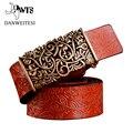 [Dwts] 2016 Nova alça de mão de couro real tecida agulha cinto ceinture femme mulheres cintos de fivela casuais estilo luxo casual feminina