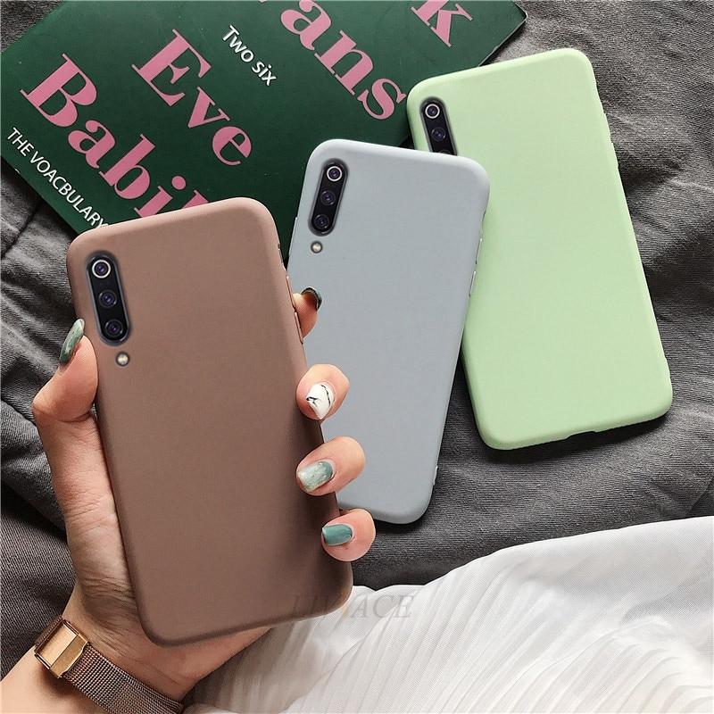 Solid Candy Color Silicone Case On For Xiaomi Mi A3 Mi 9 Lite Pro Mi9 Se Cc9 Cc9e Soft Tpu Back Cover Coque Funda For Xiaomi Cc9