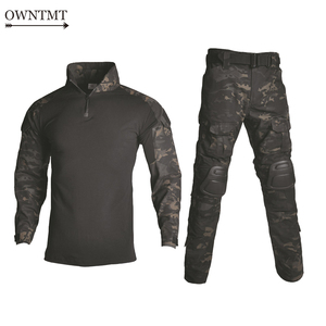 Image 1 - BDU taktyczny kamuflażowy mundur wojskowy ubrania garnitur mężczyźni usa odzież wojskowa Airsoft wojskowa koszula bojowa + spodnie Cargo ochraniacze na kolana