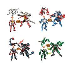 2 IN 1 Deformation Robot Blast Fighter Venom Ninja Shadow Hunter Building Blocks Sets Bricks Educational Toys for Children gift