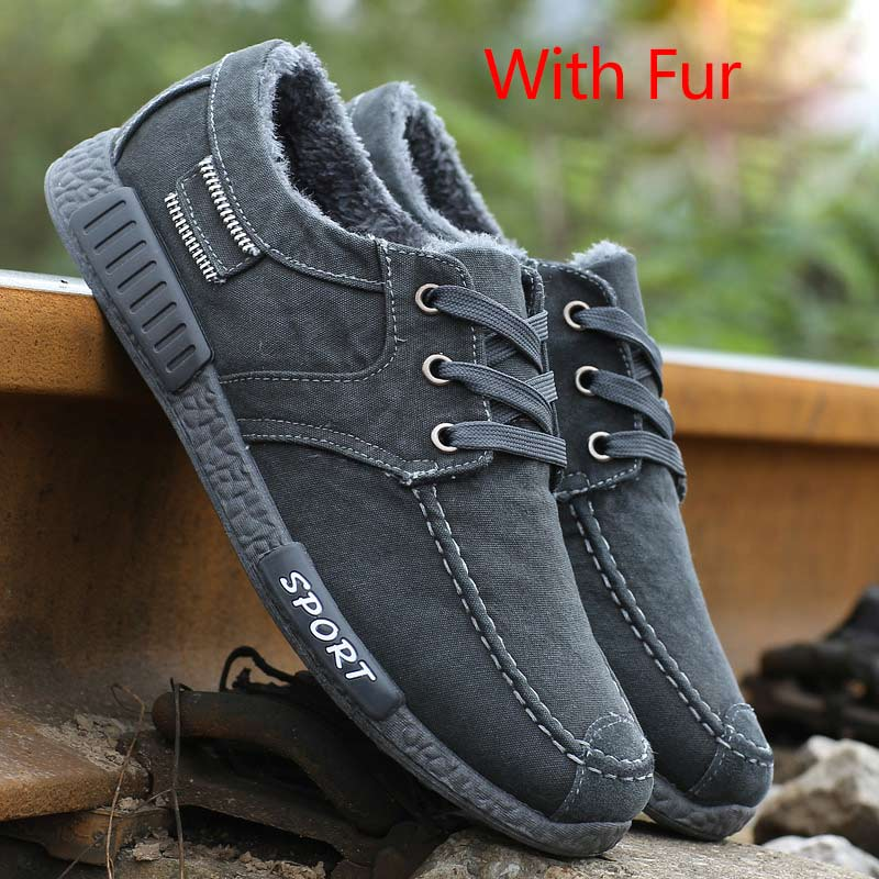 202 gray lace-up fur
