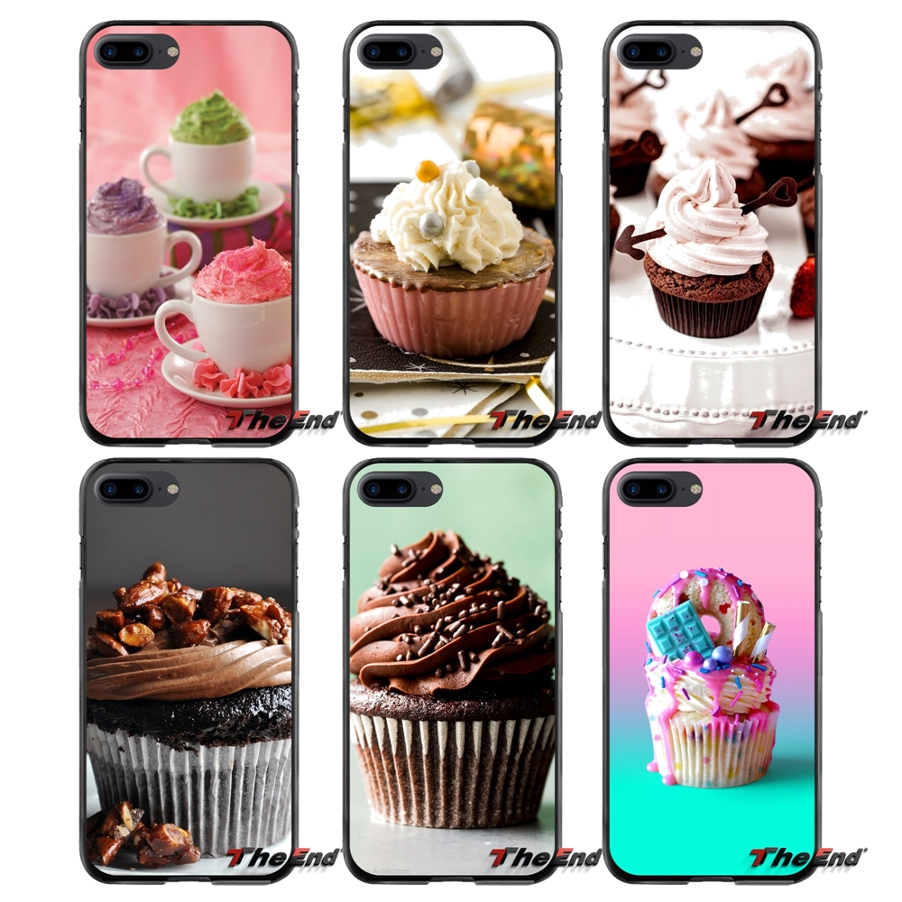 For Apple iPhone 4 4S 5 5S 5C SE 6 6S 7 8 Plus X iPod Touch 4 5 6 Cup Cake Accessories Phone Shell Covers