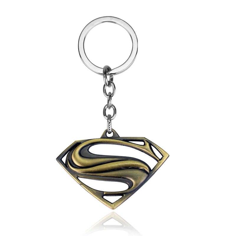 Estilo Euramerican Série Avengers Moives Sujeito Superman Logo Chaveiro Para Chaves Bugiganga Chave Titular Presente de Natal