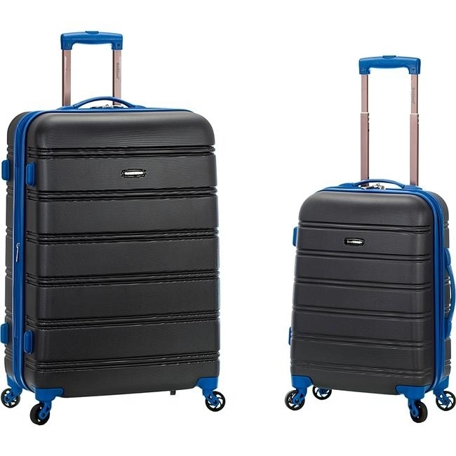 Rockland F225-GREY 20 x 28 in. Expandable Abs Spinner Suitcase Set Grey - 2 Piece sexy tease swimwears set in grey