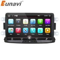 Eunavi Single 1 Din Android 7 1 8 Car Radio GPS Navigation For Renault Duster 2010