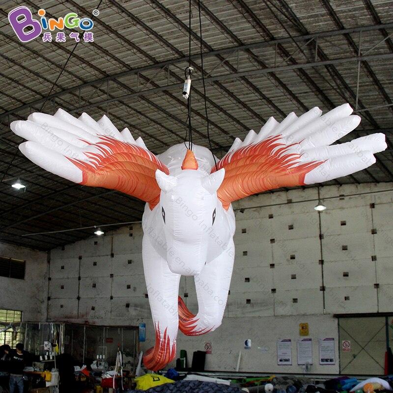 Offres spéciales 2.5X2.5X2.8 MH pégase gonflable décoration suspendue/sauter cheval volant avec des ailes ballon jouet personnalisé