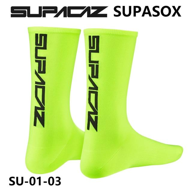 Supacaz supasox ciclismo meias de corrida meias de bicicleta meias esportivas equitação correndo meias tubo médio 2
