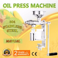 Manual Oil Press Household Peanut Nuts Seed Oil Expeller Food Grade Stainless Steel Oil Extractor Machine