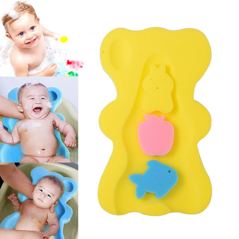 Baby Infant Soft Bath Sponge Seat Anti-Slip Foam Mat Body Support Cushion Pad Bathroom Supplies M09