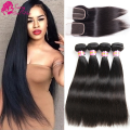 7a Brazilian Straight Hair With Closure Peerless Virgin Hair With Closure Straight Brazillian Hair With Closure 3 4 Bundles