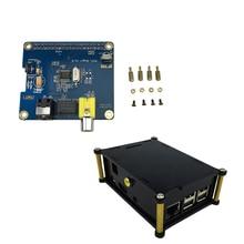 Buy online Raspberry Pi 3 HIFI DiG Digital Sound Card Board I2S SPDIF + Black Acrylic Case for Raspberry Pi 2 Model B / B+