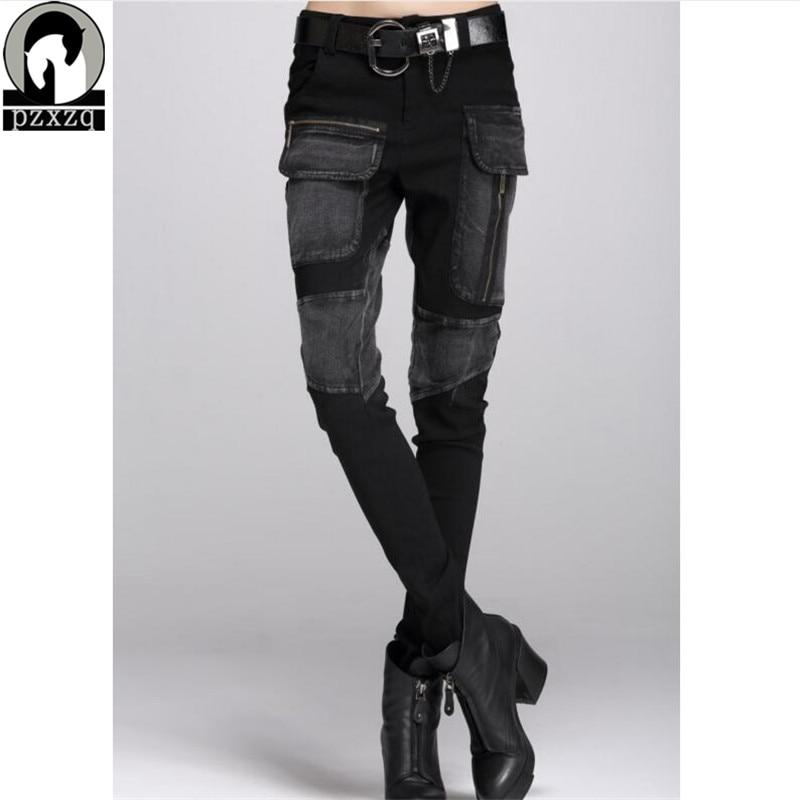 Gratis verzending Europa Sexy zwarte Jeans Vrouw Potlood Broek Herfst - Dameskleding