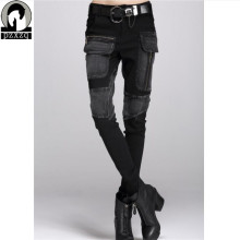 Free Shipping Europe Sexy Black Jeans Woman Pencil Pants spring Winter Baggy Casual Jeans Women Loose Haren Pants Jeans Feminina