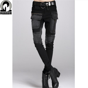 Image 1 - Free Shipping Europe Sexy Black Jeans Woman Pencil Pants spring Winter Baggy Casual Jeans Women Loose Haren Pants Jeans Feminina