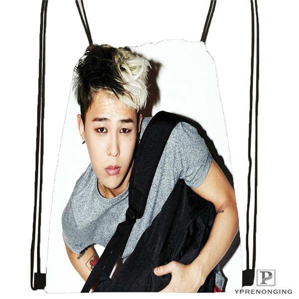 Custom Big Bang  (3) Band  Drawstring Backpack Bag Cute Daypack Kids Satchel (Black Back) 31x40cm#180612-03-Bigbang