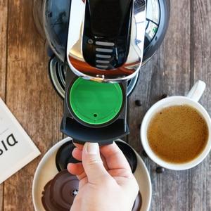 Image 3 - 다시 채울 수있는 커피 필터 스테인레스 스틸 재사용 가능한 커피 캡슐 세트 스쿠프 브러시 스트레이너 맛 달콤한 Nescafe Dolce Gusto