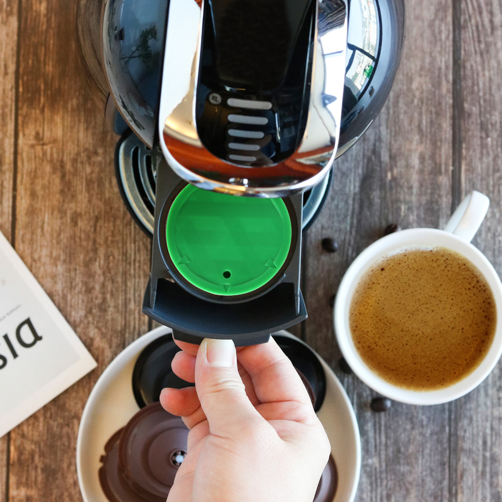 Image 3 - Wielokrotnego napełniania filtr do kawy stal nierdzewna wielokrotnego użytku kapsułka z kawą zestaw miarka szczotka sitko smak słodki dla Nescafe Dolce GustoFiltry do kawy   -
