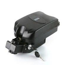 36v 48v kurbağa stil durumda pil saklama kutusu bisiklet pil plastik kasa ile güç ekran lambası