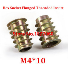 100pcs M4*10 Zinc Alloy Furniture Hex socket Drive Head Nut Threaded for Wood Insert Nuts