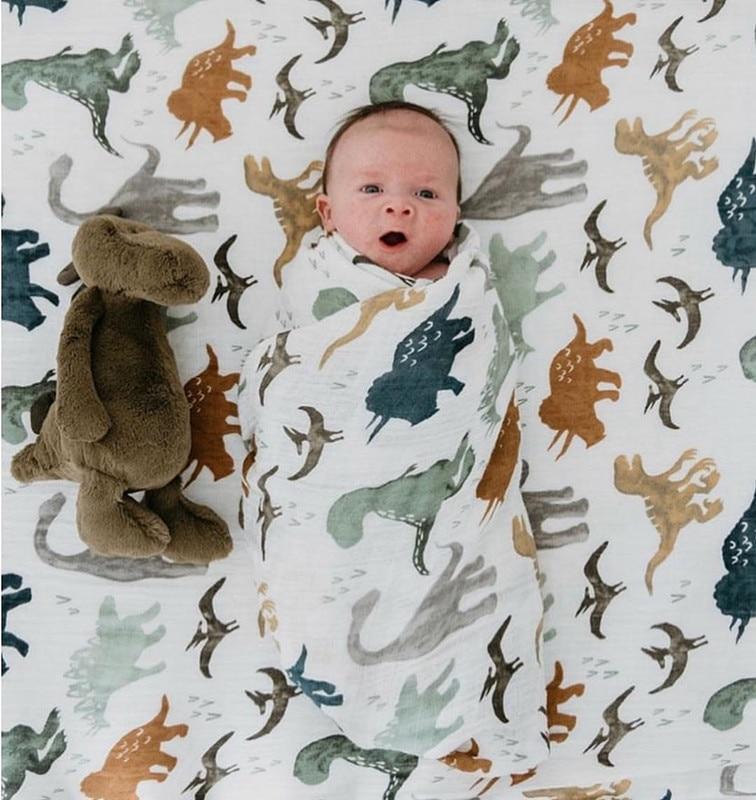 70% бамбуковое детское муслиновое одеяло для пеленания, качество лучше, чем Aden Anais, детское Многофункциональное большое одеяло для пеленок, детское одеяло - Цвет: ZM konglong