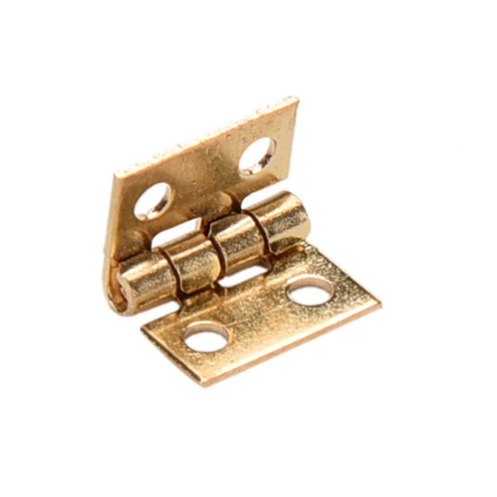 10 Pcs Tinggi Kualitas DIY Kerajinan Peralatan 10*8 Mm Mini Pantat Engsel Lemari Laci Kecil Lubang Engsel