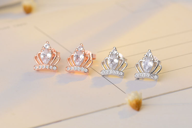 RUOYE New Gold Silver Color Luxury Crystal Women Stud Earring - Fashion Jewelry - Photo 5