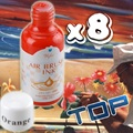 Free Shipping - 8 Colours Each 30ml Nail Art Airbrush Paint Ink 3D Paint Full Set Painting Design
