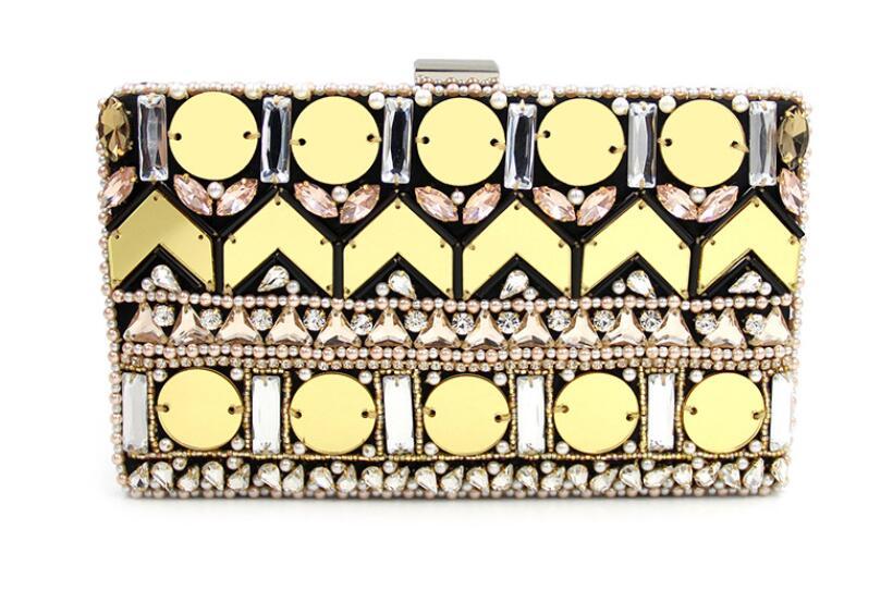Haute Qualité Lourd D'embrayage 1 Travail Perle Diamant Sac Perlée Nouveau De Dîner Paillettes Chaîne Hg14wwzq8