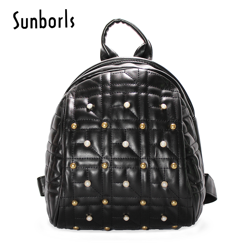 pearl Women backpacks fashion leather shoulder bag casual backpack School Bags for teenager girl bag high quality 3v11104 brand bag backpack female genuine leather travel bag women shoulder daypacks hgih quality casual school bags for girl backpacks