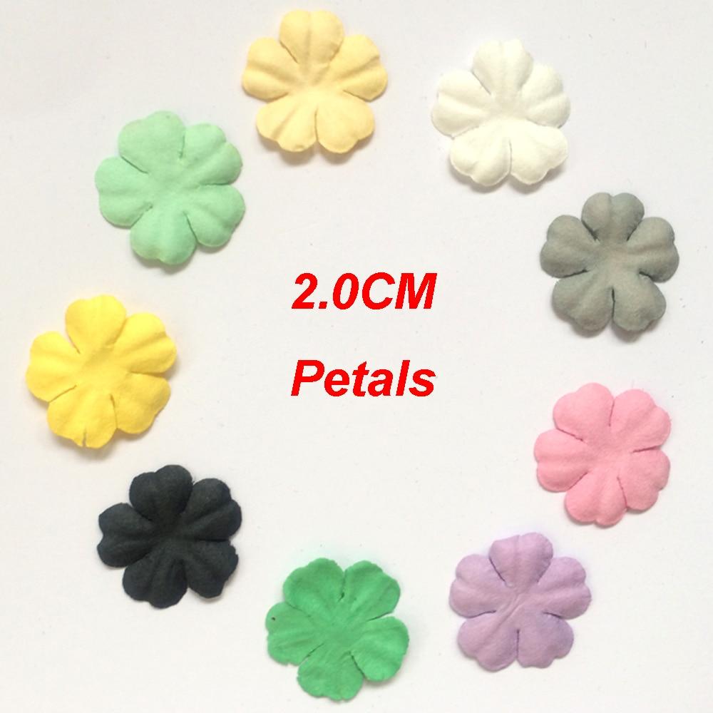100pcslot 20cm Mini Paper Flowers For Scrapbooking Mini Petals