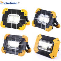 100W Led Portable Spotlight 10000lm Super Bright Led Work Light Rechargeable for Outdoor Camping Lampe Led Flashlight by 18650