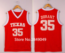 9bc237364 Kevin Durant Texas College Basketball Jersey Embroidery Stitched Customize  any size and name(China)