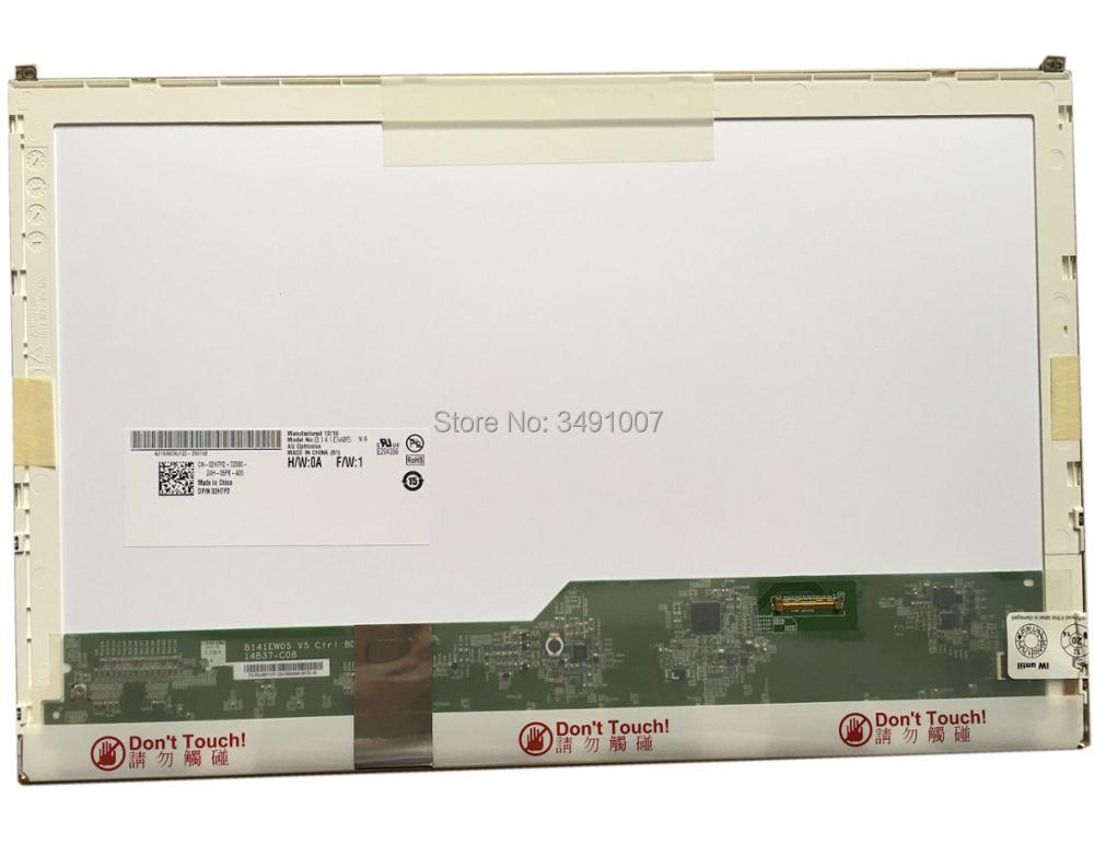 B141EW05 V.5 fit LP141WX5 TPP1 LTN141AT16 N141I6-D11 for DELL E6410 notbook EDP free shipping 14 1 lcd led screen for dell e6410 notbook b141ew05 v 5 lp141wx5 tpp1 ltn141at16 n141i6 d11