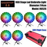 TIPTOP 6IN1 пакет для полетов RGB светодио дный зонтик света 114 см широкий линейный диммер/мерцающий эффект Цвет Изменение светодиодные огни для и