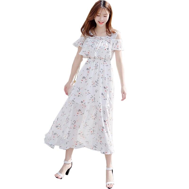 Floral Print Beach Dresses Sweet Cute O neck Casual Loose ...