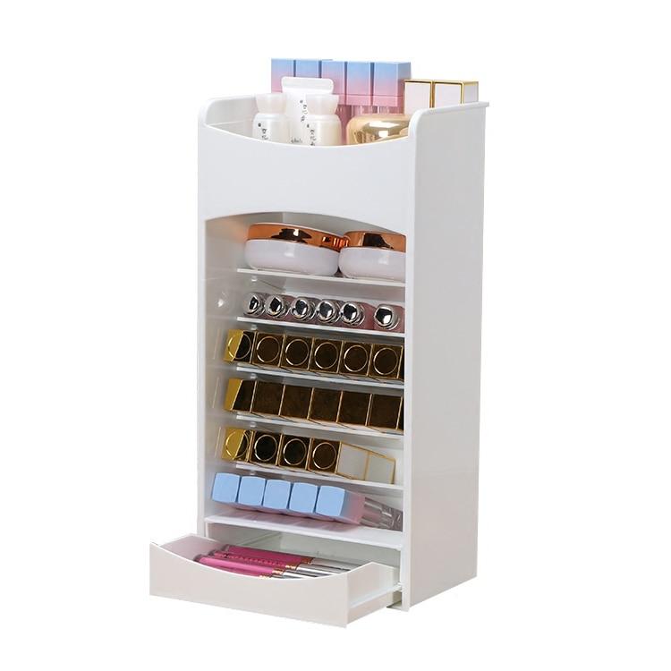 European lipstick storage box transparent mini desktop cosmetic storage box powder makeup lipstick storage box