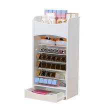 European lipstick storage box transparent mini desktop cosmetic powder makeup