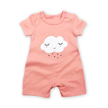 Free shipping 2018 Summer Baby Rompers Short Sleeve Baby Girls Clothing 100% cotton Jumpsuits Newborn Baby clouds Clothes 3 colors summer rompers for children newborn baby girls boys clothes cotton short sleeve bebes moon star jumpsuits clothing