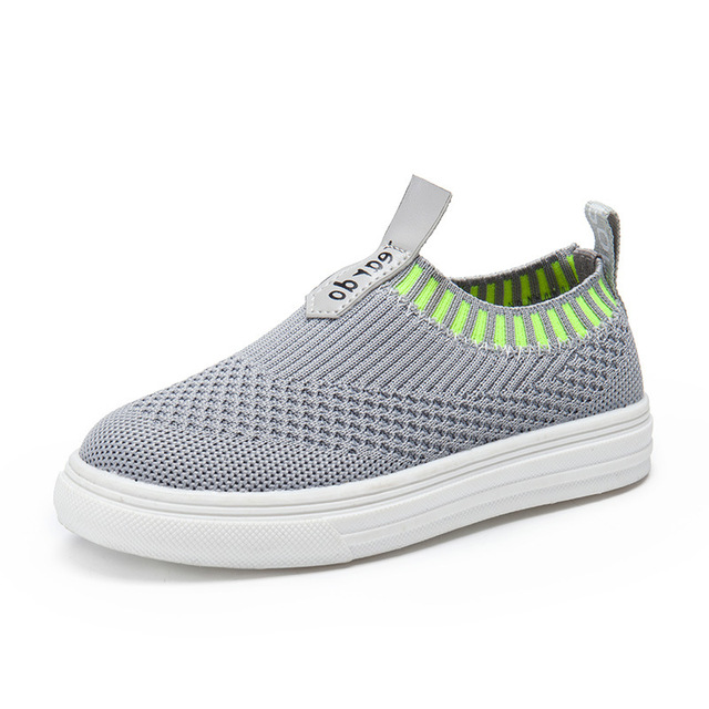 Summer Kids Knitting Shoes Breathable Net Shoes Girls Boys Leather Mesh  Casual Light Weight Kids Sports Children Shoes fa4d0b237c6e