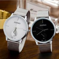Woman Fashion Casual Watch Silver Mesh Belt Watch Lady Analog Quartz Wrist Watch#816