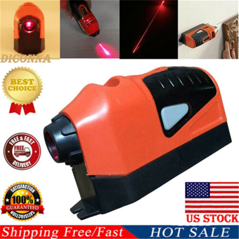 US New Laser Spirit Level Guide Straight Project Line Tool Hang Picture Plastic
