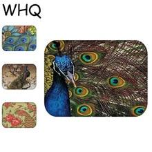 WHQ Modern Peacock Rectangle Print Carpets Floor Door Mats Hallway Bathroom  Rug Doormats Mat Living Room