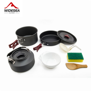 Widesea קמפינג חיצוני כלי בישול סט קמפינג כלי שולחן בישול שולחן נסיעות סט סכום כלי טיולים פיקניק סט