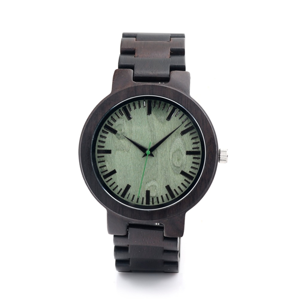 Fashion Black Wooden Wristwatch For Men And Women With High Japan MIYOTA Movement Quartz Wristwatch With Idea Paper Box