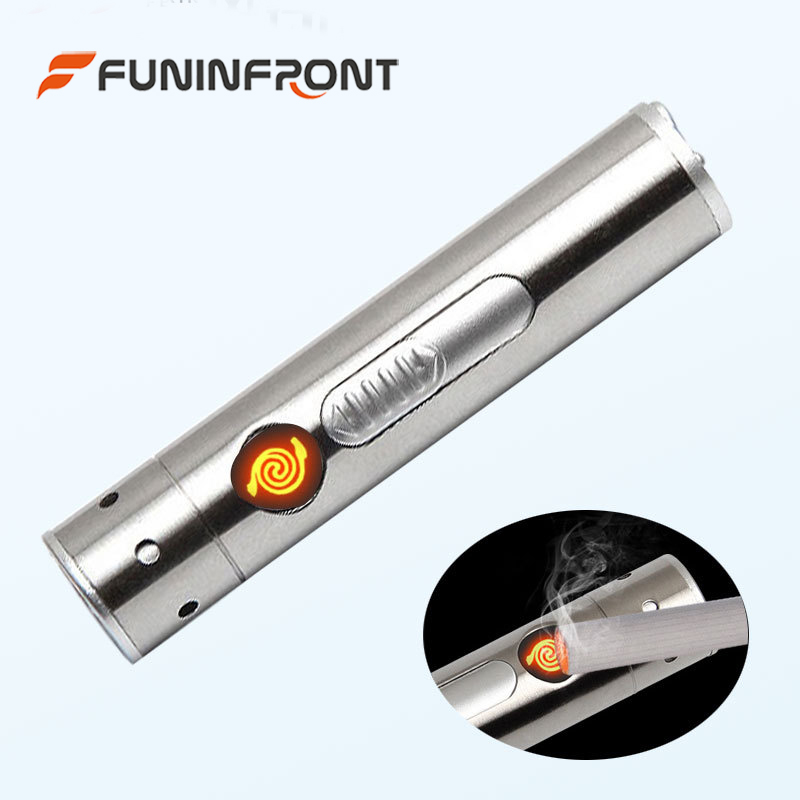 Stainless Steel Moonlight MINI Led Flashlight 5W LED Torch USB Rechargeable LED Penlight Lamp with Cigarette Lighter + USB Line 1pc mini keychain pocket torch usb rechargeable light flashlight lamp 0 5w 25lm multicolor mini torch new arrival
