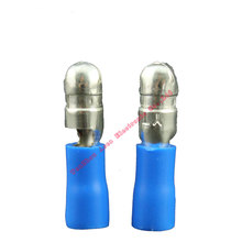 цена на 1000pcs Blue Male Female Bullet Insulated Connector Crimp Terminals Wiring Cable Plug MPD2-156 MPD2-195 FRD2-156 FRD2-195