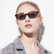 2018 Small Cat Eye Cute Sexy Retro Sunglasses Women Brand Design Small Black Leo