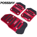 Universal Manual Transmission 3 Pieces Red and Black  Car Pedal Cover Set Kit Pedales De Coches Araba Pedallar Car Decoration